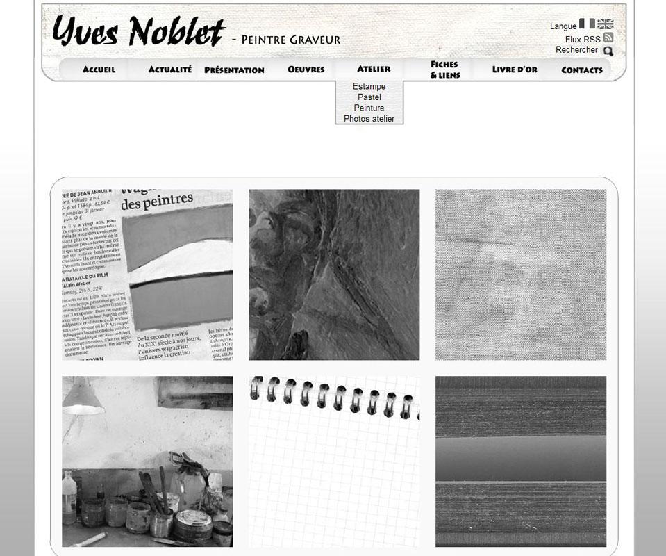 Site Web artiste Yves Noblet