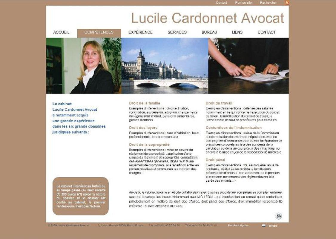 Site Lucile Cardonnet Avocat
